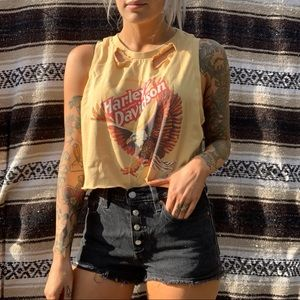 Button fly Levi shorts